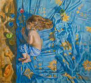 Baby Paintings - About the summer by Victoria Kharchenko