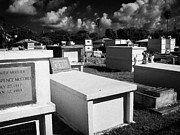 Vaults Metal Prints - Above Ground Tombs In Key West Cemetery Florida Usa Metal Print by Joe Fox