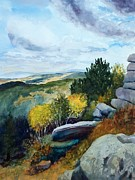 Wyoming Paintings - Above Louis Lake in the Southern Wind River Mountains by Todd Derr