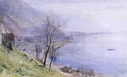 Above Montreux Print by John William Inchbold