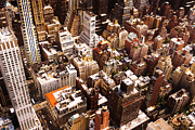 Above New York City Print by Vivienne Gucwa