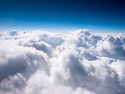 Fluffy Posters - Above The Clouds Poster by Paul Velgos