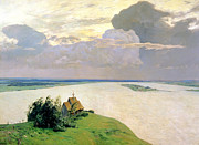 Orthodox Paintings - Above The Eternal Peace by Isaak Ilyich Levitan