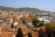 Old Homes Photos - Above the roofs of Cannes by Christine Till