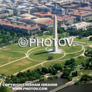 Irs Photos - Above The Washington Monument -  Limited Edition by Hisham Ibrahim