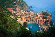 Typical Framed Prints - Above Vernazza Framed Print by Inge Johnsson