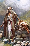 Bible Painting Posters - Abraham and Isaac Poster by Harold Copping