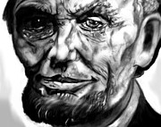 Honest Abe Drawings - Abraham by Herbert Renard