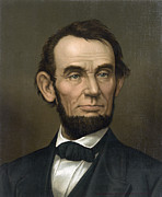 Abraham Lincoln Framed Prints - Abraham Lincoln  1877 Framed Print by Daniel Hagerman