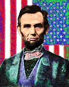 4th July Digital Art Framed Prints - Abraham Lincoln 20130115 Framed Print by Wingsdomain Art and Photography