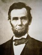 Black White Photos - Abraham Lincoln by Alexander Gardner