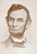 Abraham Lincoln Portrait Metal Prints - Abraham Lincoln Metal Print by American School