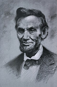 Abraham Lincoln Drawings Posters - Abraham Lincoln Poster by Viola El
