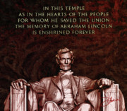 Abraham Lincoln Framed Prints - Abraham Lincoln Framed Print by Dancin Artworks