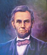 Slavery Painting Framed Prints - Abraham Lincoln Framed Print by Ed Breeding