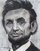 The President Pastels Framed Prints - Abraham Lincoln Framed Print by Eric Dee