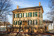 Historic Site Posters - Abraham Lincoln Home in Springfield Illinois Poster by Paul Velgos