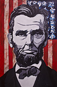 Abe Lincoln Painting Prints - Abraham Lincoln Print by John Gibbs