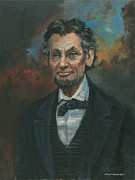 The President Of The United States Paintings - Abraham Lincoln by Kaziah Hancock