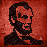 Leader Mixed Media Posters - Abraham Lincoln License Plate Art Poster by Design Turnpike