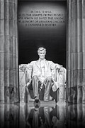 National Mall Framed Prints - Abraham Lincoln Memorial Framed Print by Susan Candelario