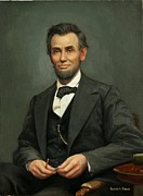 Barack Obama Oil Paintings - Abraham Lincoln painting by Robert H Sibold