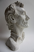 Politicians Sculptures - Abraham Lincoln- profile by Derrick Higgins