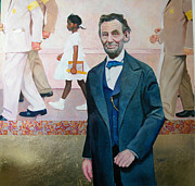 Civil Rights Paintings - Abraham Lincoln by RC Bailey