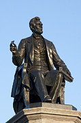 Abraham Lincoln Prints - Abraham Lincoln Statue Philadelphia Print by Bill Cannon
