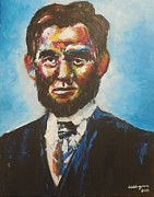 Politicians Painting Originals - Abraham Lincoln by Valdengrave Okumu