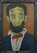Folk Art Lincoln Paintings - Abraham Lincolnstein by Eric Cunningham