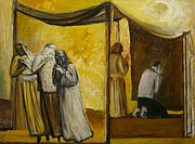 Tent Posters - Abraham Praying Poster by Richard Mcbee