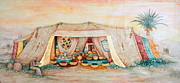 Synagogue Paintings - Abrahams Tent by Michoel Muchnik