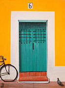 San Juan Paintings - Abriendo Puertas - Open Doors by Sharif Muhammad