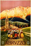 Church Prints Paintings - Abruzzo by Pg Reproductions