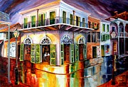 Streetlight Painting Prints - Absinthe House New Orleans Print by Diane Millsap