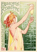 French Poster Posters - Absinthe Robette Poster by Sanely Great