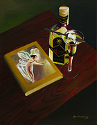 Jon Paul Price Acrylic Prints - Absinthe The Green Fairy Acrylic Print by Jon Paul Price