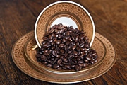 Coffee Drinking Framed Prints - Absolute Coffee Beans Framed Print by Silva Wischeropp