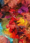 Floral - Abstract 081313 by David Lane