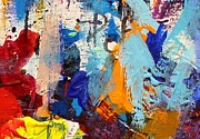 Impasto Painting Posters - Abstract 10 Poster by John  Nolan