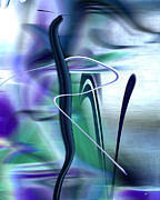 Stretched Canvas Metal Prints - Abstract 300 Metal Print by Gerlinde Keating - Keating Associates Inc