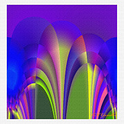 Abstract Fountain Digital Art Framed Prints - Abstract-6 Colorful Fountain Framed Print by Ck Gandhi