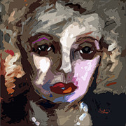 Abstract Faces Posters - Abstract Art Bette Davis Eyes  Poster by Ginette Callaway
