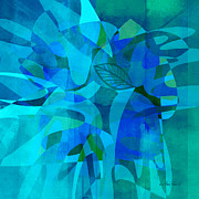abstract - art- Blue for You Print by Ann Powell