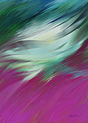 For Modern Decor Framed Prints - abstract art Flight of Imagination Framed Print by Ann Powell