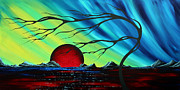 Abstract Art Landscape Seascape Bold Colorful Artwork Serenity By Madart Print by Megan Duncanson