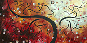 Abstract Fine Art Paintings - Abstract Art Original Circle Landscape by MADART by Megan Duncanson