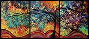 Megan Duncanson Metal Prints - Abstract Art Original Landscape Painting GO FORTH by MADART Metal Print by Megan Duncanson
