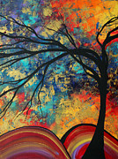 Silhouette Painting Posters - Abstract Art Original Landscape Painting Go Forth II By Madart Studios Poster by Megan Duncanson